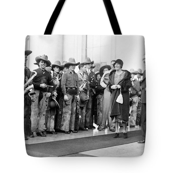 Cowboy Band, 1929 Tote Bag by Granger