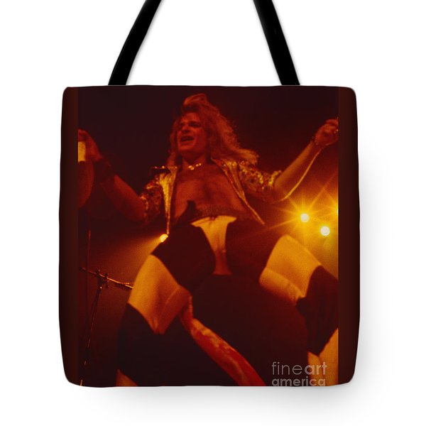 David Lee Roth - Van Halen At The Oakland Coliseum 12-2-1978 Rare Unreleased Tote Bag by Daniel Larsen