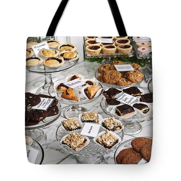 Desserts In Bakery Window Tote Bag by Elena Elisseeva