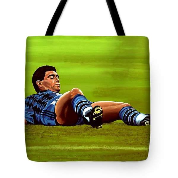 Diego Maradona Tote Bag by Paul Meijering