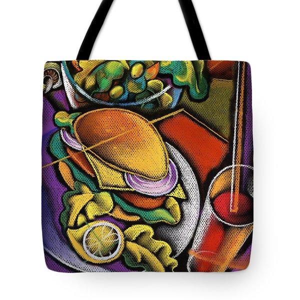 Dinner Tote Bag by Leon Zernitsky