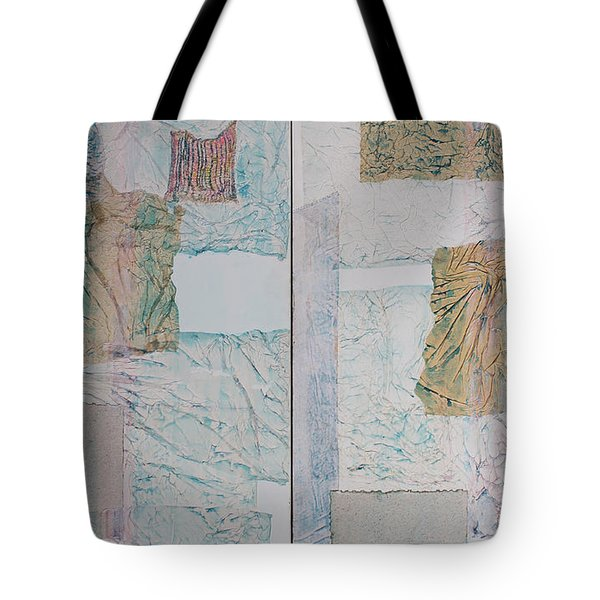 Double Doors Of Unfinished Projects In Blue  Tote Bag by Asha Carolyn Young