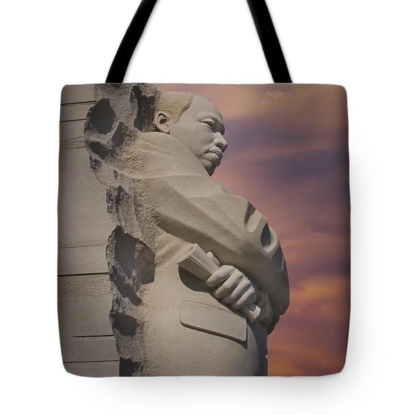 Dr. Martin Luther King Jr Memorial Tote Bag by Susan Candelario