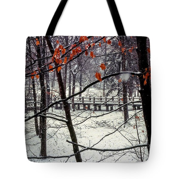 Early Snow Tote Bag by Bob Phillips