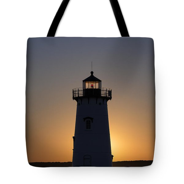 Edgartown Light Sunrise Tote Bag by John Greim