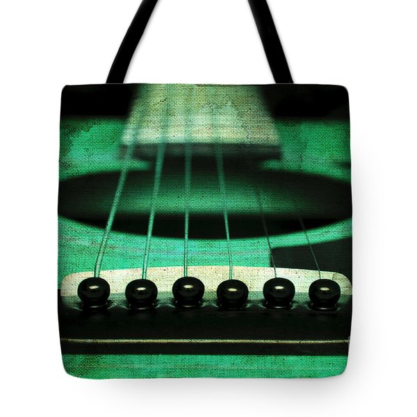 Edgy Abstract Eclectic Guitar 15 Tote Bag by Andee Design