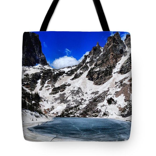 Emerald Lake In Rocky Mountain National Park Tote Bag by Dan Sproul