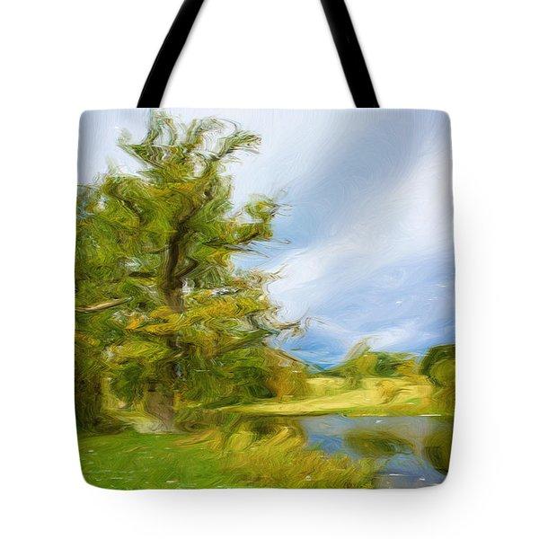 English Landscape Tote Bag by Tom Gowanlock