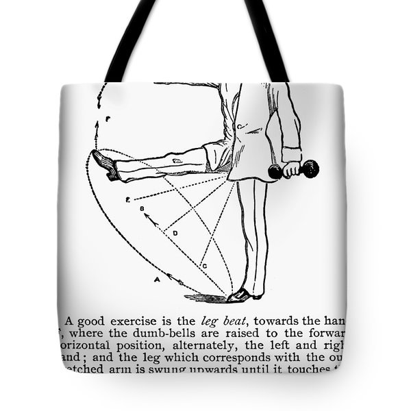 Exercise, 19th Century Tote Bag by Granger