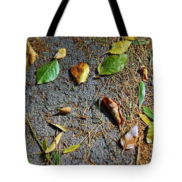 Fallen Leaves Tote Bag by Carlos Caetano