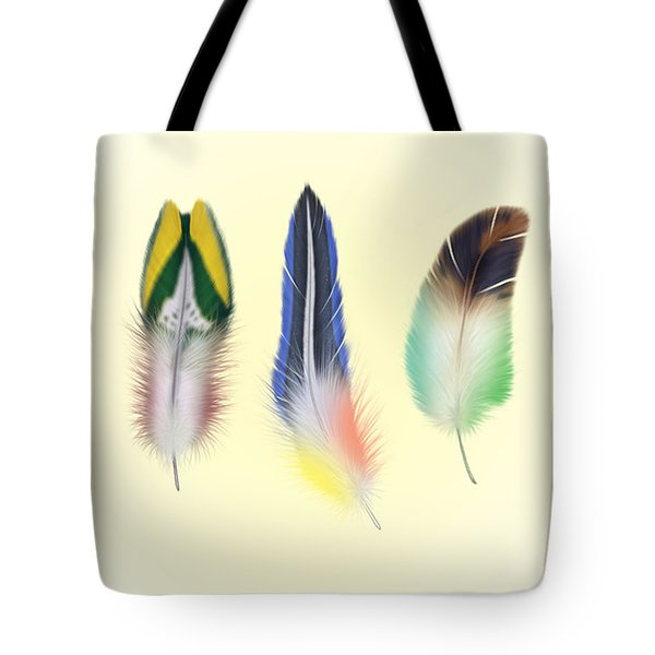 Feathers Tote Bag by Mark Ashkenazi