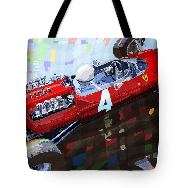 Ferrari 158 F1 1965 Dutch Gp Lorenzo Bondini Tote Bag by Yuriy  Shevchuk