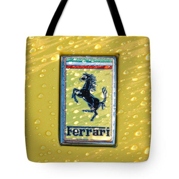 Ferrari Emblem Tote Bag by Jill Reger