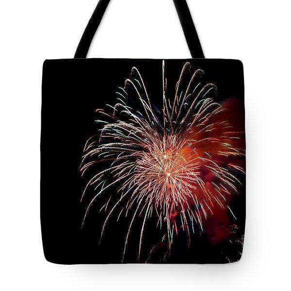 Fireworks Tote Bag by Grace Grogan
