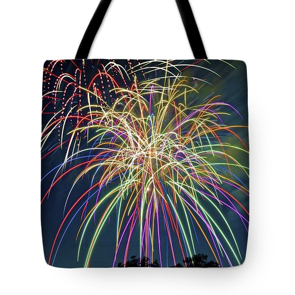 Fireworks Tote Bag by Michael Shake