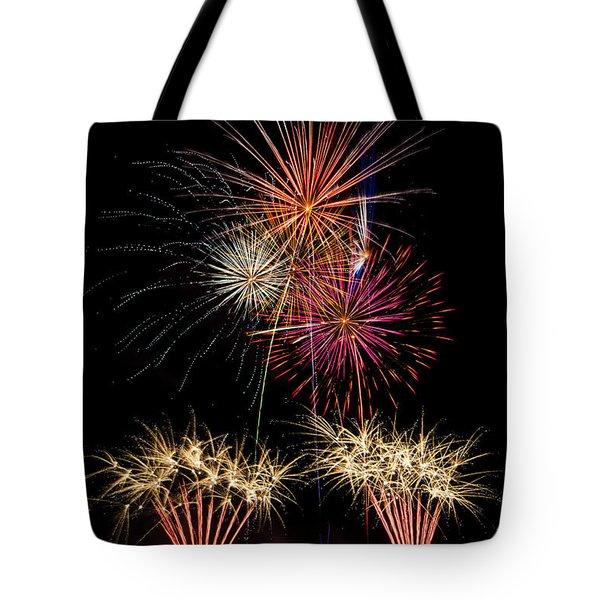 Fireworks  Tote Bag by Saija  Lehtonen