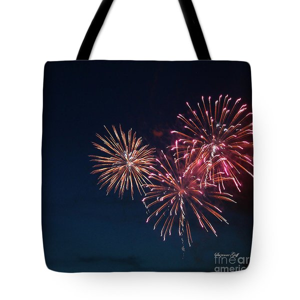 Fireworks Series Vi Tote Bag by Suzanne Gaff