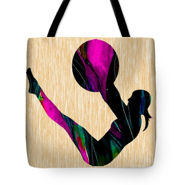 Fitness Ball Tote Bag by Marvin Blaine
