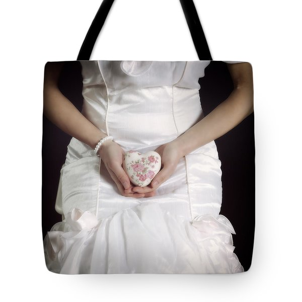 Floral Heart Tote Bag by Joana Kruse