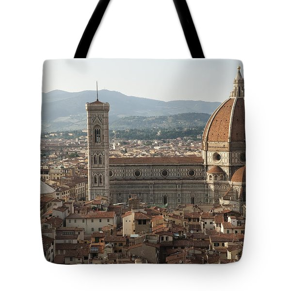 Florence Cathedral And Brunelleschi's Dome Tote Bag by Melany Sarafis
