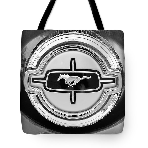 Ford Mustang Gas Cap Tote Bag by Jill Reger