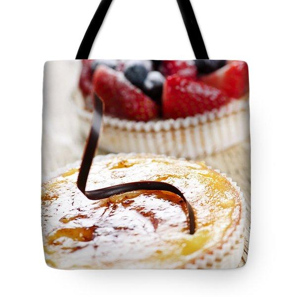 Fruit Tarts Tote Bag by Elena Elisseeva