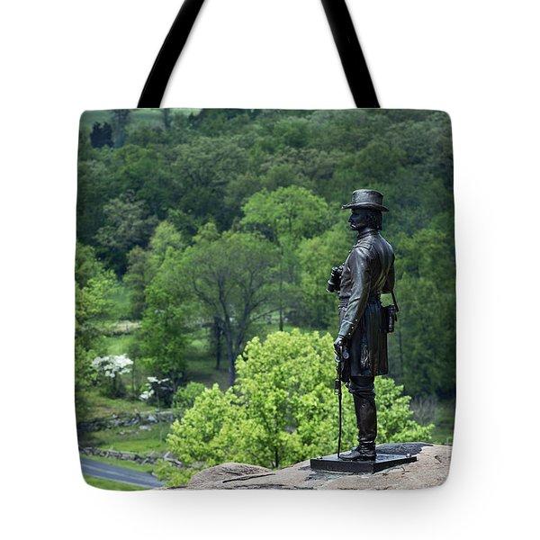 General Warren at Little Round Top Tote Bag by John Greim