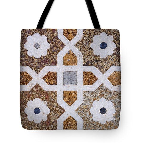 Geometric Designs on the Baby Taj Agra Tote Bag by Robert Preston