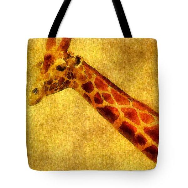 Giraffe Painting Tote Bag by Dan Sproul