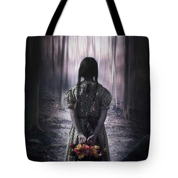 girl in the woods Tote Bag by Joana Kruse