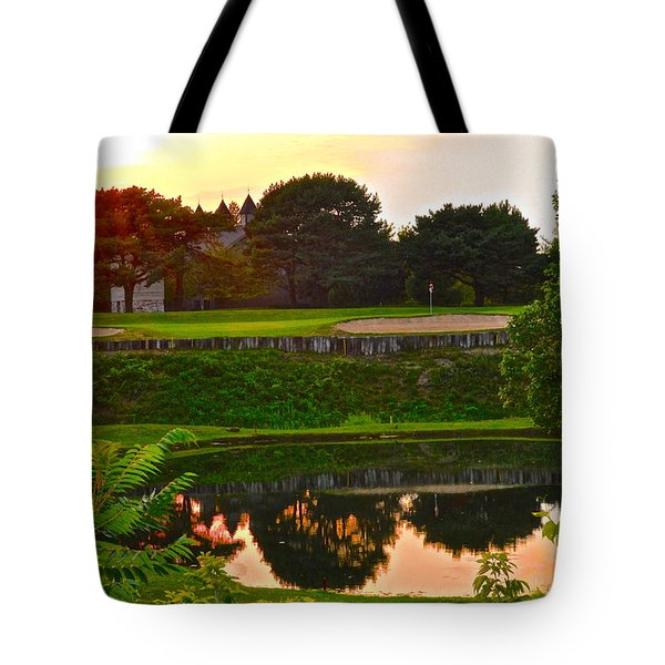 Golf Course Beauty Tote Bag by Frozen in Time Fine Art Photography