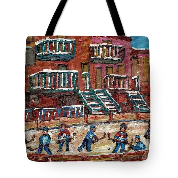 Gorgeous Day For A Game Tote Bag by Carole Spandau