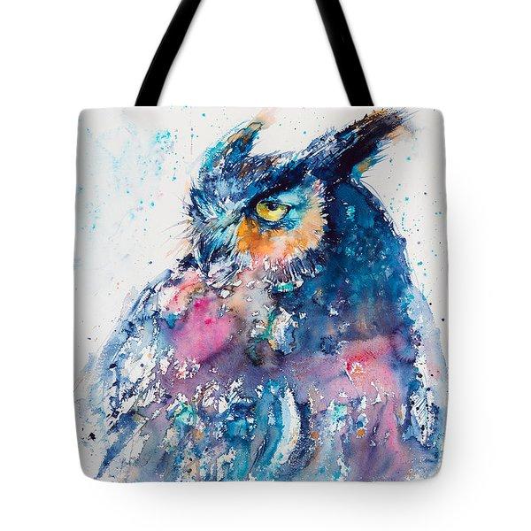 Great Horned Owl Tote Bag by Kovacs Anna Brigitta
