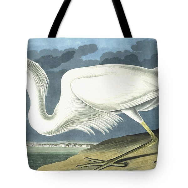 Great White Heron Tote Bag by John James Audubon