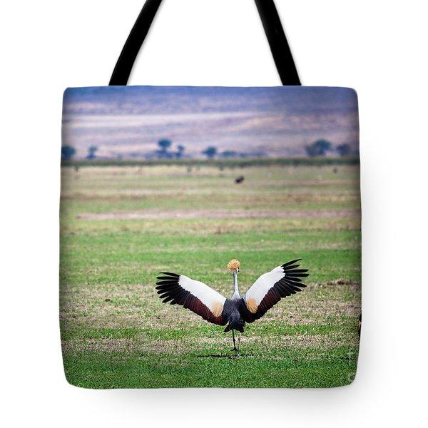 Grey Crowned Crane. The National Bird Of Uganda Tote Bag by Michal Bednarek