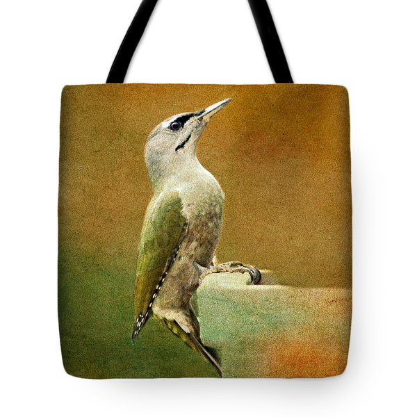 Grey-headed Woodpecker Tote Bag by Heike Hultsch