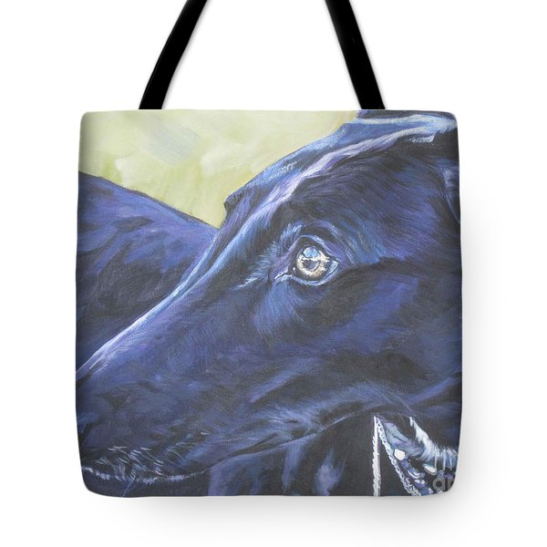 Greyhound Tote Bag by Lee Ann Shepard
