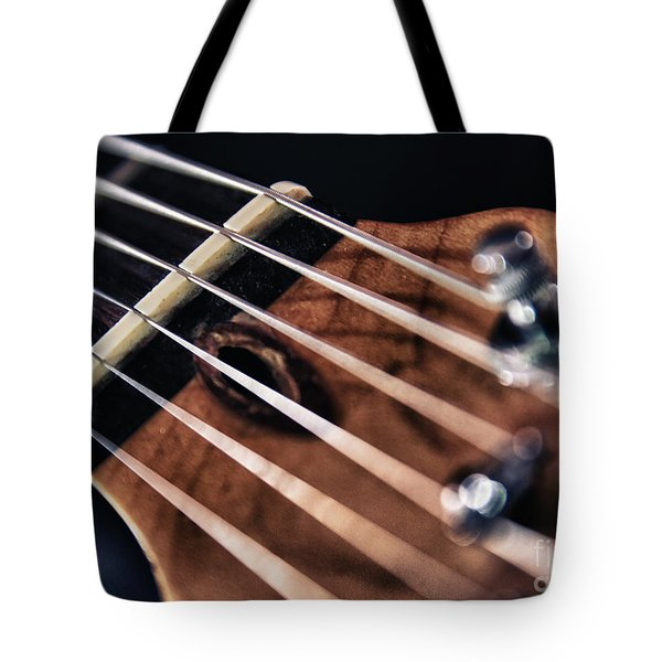 guitar strings Tote Bag by Stylianos Kleanthous