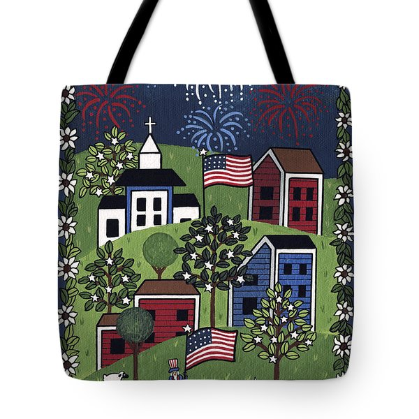 Happy 4th Of July Tote Bag by Medana Gabbard