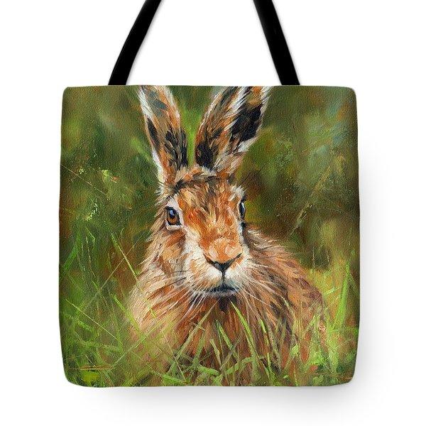 hARE Tote Bag by David Stribbling