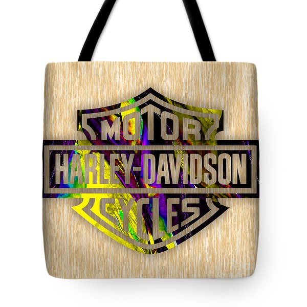 Harley Davidson Motorcycles Tote Bag by Marvin Blaine