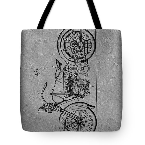 Harley Patent Tote Bag by Dan Sproul