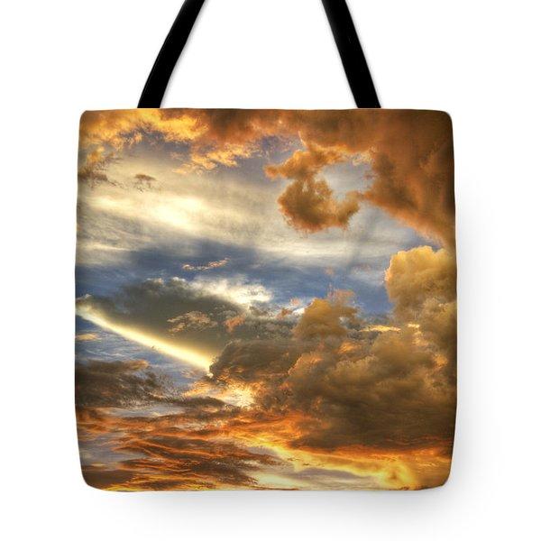 Heavenly Skies  Tote Bag by Saija  Lehtonen