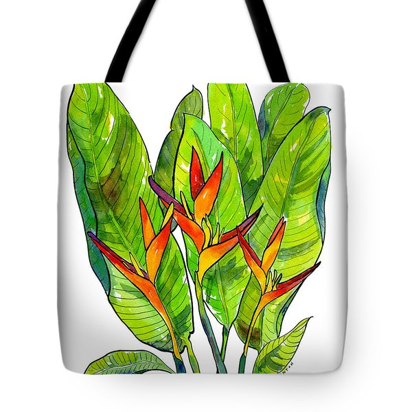 Heleconia Tote Bag by Diane Thornton