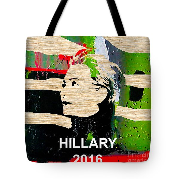 Hillary Clinton 2016 Tote Bag by Marvin Blaine