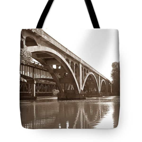 Historic Wil-cox Bridge Tote Bag by Matt Taylor