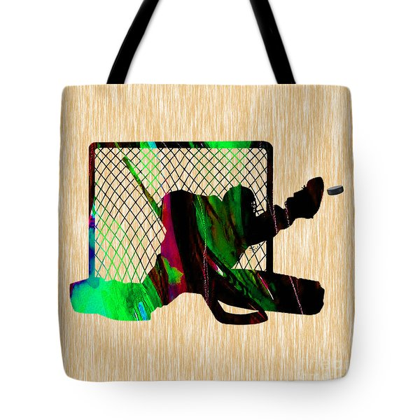 Hockey Goalie Tote Bag by Marvin Blaine