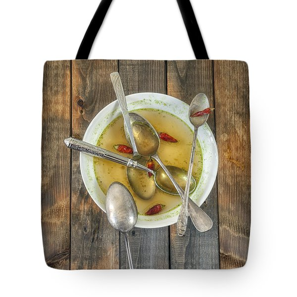 hot soup Tote Bag by Joana Kruse