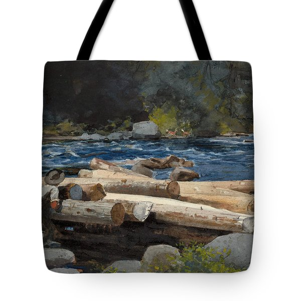 Hudson River Tote Bag by Winslow Homer