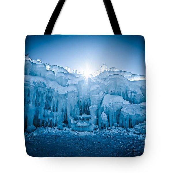 Ice Castle Tote Bag by Edward Fielding